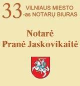 Vilniaus m. 33-as notarų biuras Logo