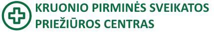 Kruonio pirminės sveikatos priežiūros centras Logo